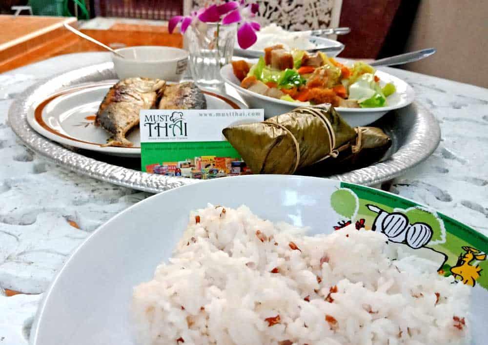 Menu Thai home cooking