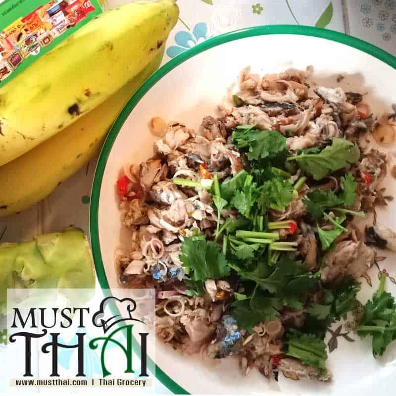 Yum Pla Tu, Thai Mackerel Salad by Thai home cooking
