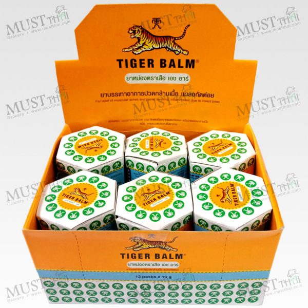 Balm White Ointment - Tiger Balm HR 10g (box of 12)