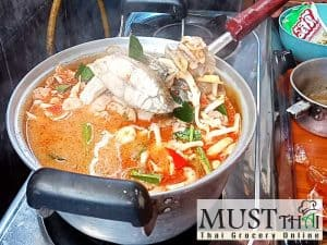 Creamy tom yum sea bass by Thai home cooking