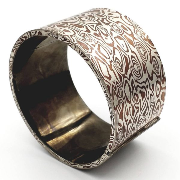 Mokume Gane Hollow light Bangle
