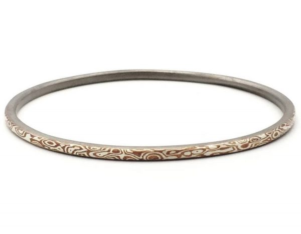 Mokume Gane Stack Bangle