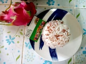 Cook rice mix. Easy step if you have a rice cooker.