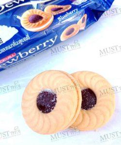 Dewberry Sandwich Cookies with Cream Blueberry Jam Flavoured