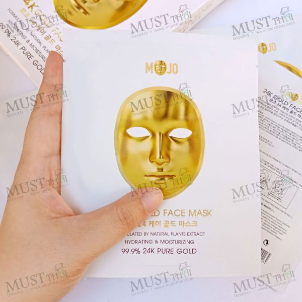 Mojo 24k Gold Face Mask Formulated by Natural plants extract.