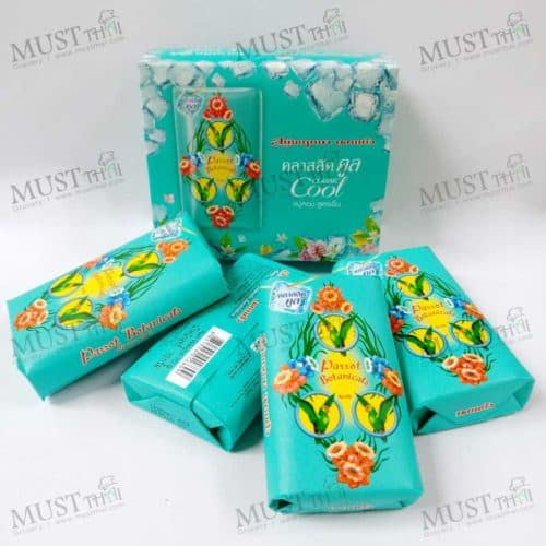 Parrot soap Thai botanical fragrance classic cool 4 bar