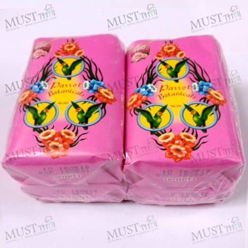 Parrot Botanicals Rose Fragrance Bar Soap 110g 4 bar