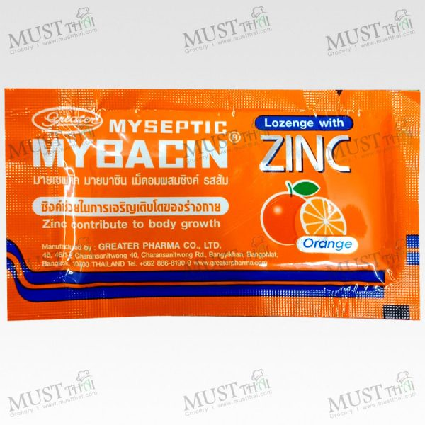 Mybacin New formula Lozenges orange add Zinc