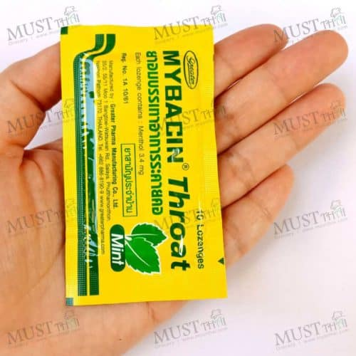 Myseptic Mybacin Lozenges Throat mint 10 Lozenges