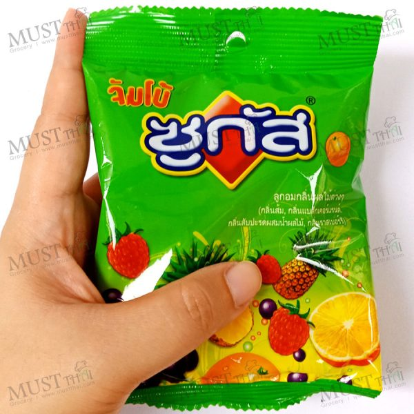 Sugus Jumbo Assorted Fruit Candy and Pineapple with Fruit Juice