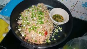 Fried rice with naem by Thai home cooking
