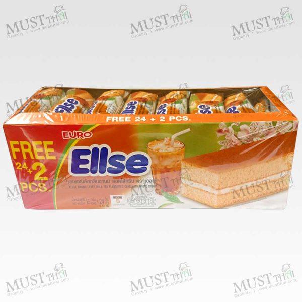 Euro Ellse Layer Milk Tea Flavored Cake with White Cream box of 24