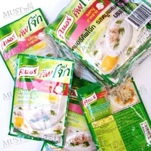 Knorr Instant Jasmine Rice Porridge Pork and Seaweed Flavour 35 g pack of 12