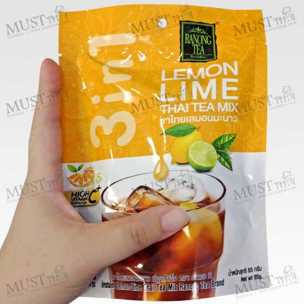 Ranong Tea 3in1 Lemon Lime Thai Tea Mix 65 g