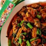 Hot basil stir fried with mussel