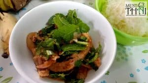 Thai grilled pork salad (Moo Nam Tok)