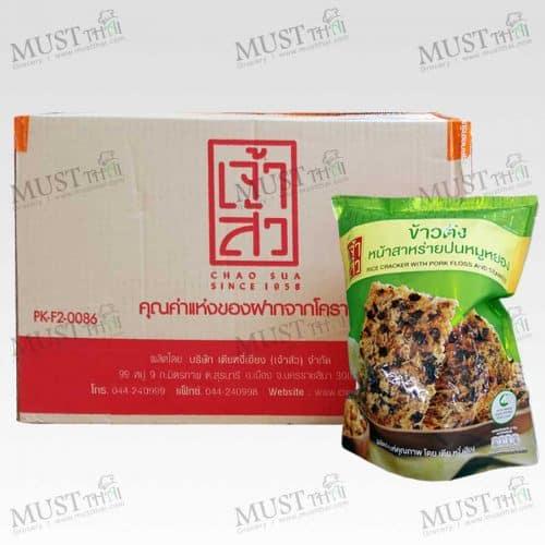ChaoSua Rice Cracker with Pork Floss Seaweed 100g box of 30 bag
