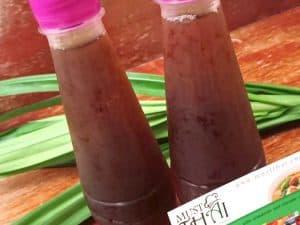 Malva nut juice with pandan home made