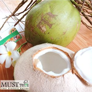 Open young coconut