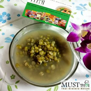 Mung beans with pandan leaves syrup