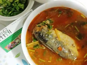 Tom yum canned mackerel in tomato sauce