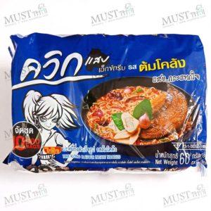 Wai Wai Quick Zabb Tom Klong Flavour Instant Noodles 60g (pack of 10)