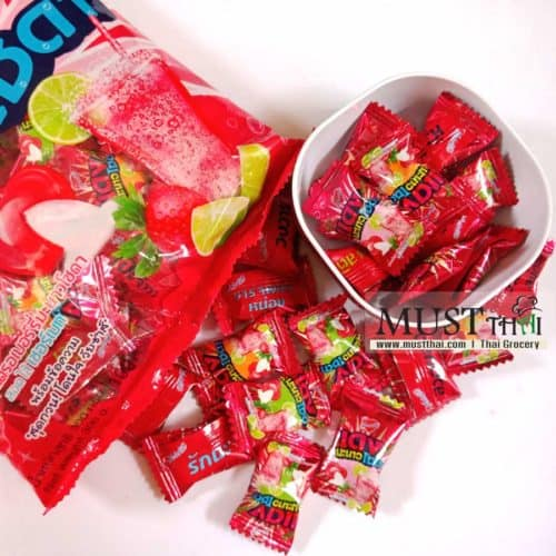 Heartbeat Candy Strawberry Lime Soda Flavour with Sherbet Center