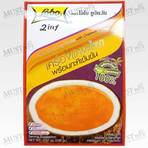 Lobo 2in1 Namya Curry Paste with Creamed Coconut 100 g
