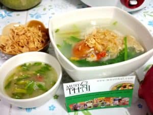 Chicken soup with potato hot and sour soup