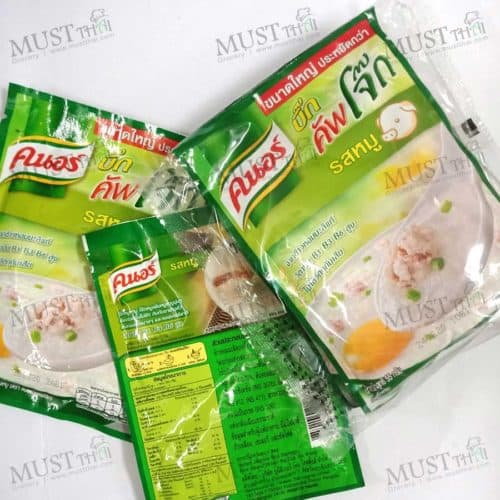 Knorr BIG Cup Instant Jasmine Rice Porridge Pork Flavour 55 g (pack of 4)