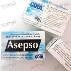 Asepso Soothing Cool Bar Soap 70g. pack of 3
