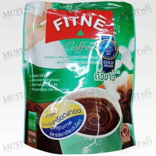 FITNE Coffee Instant Coffee Mix with White Kidney Bean Extract pack of 10 sachets