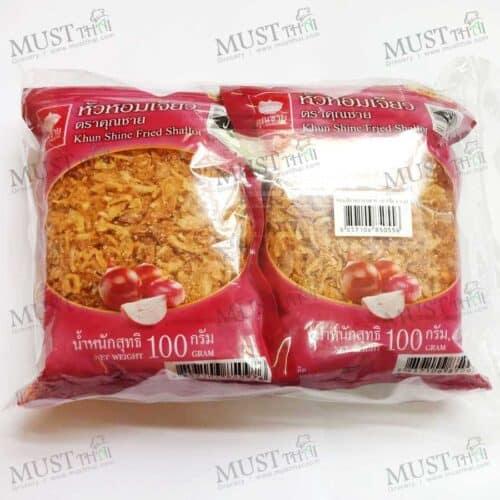 Khun Shine Premium Fried Shallot 100g pack of 4