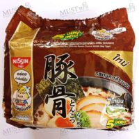 Nissin Instant Noodle Tonkotsu Ramen Flavour 60g Pack of 5