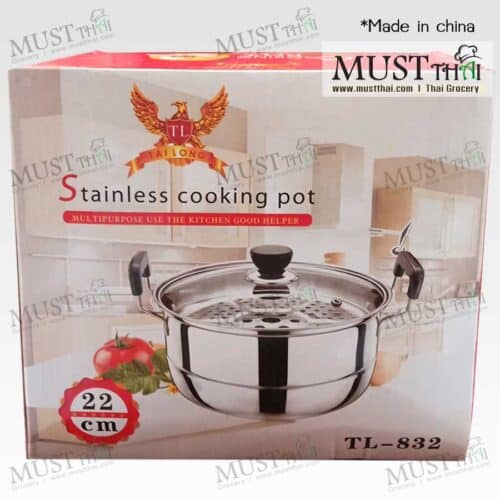 Stainless Cooking Steamer Pot 22 cm.