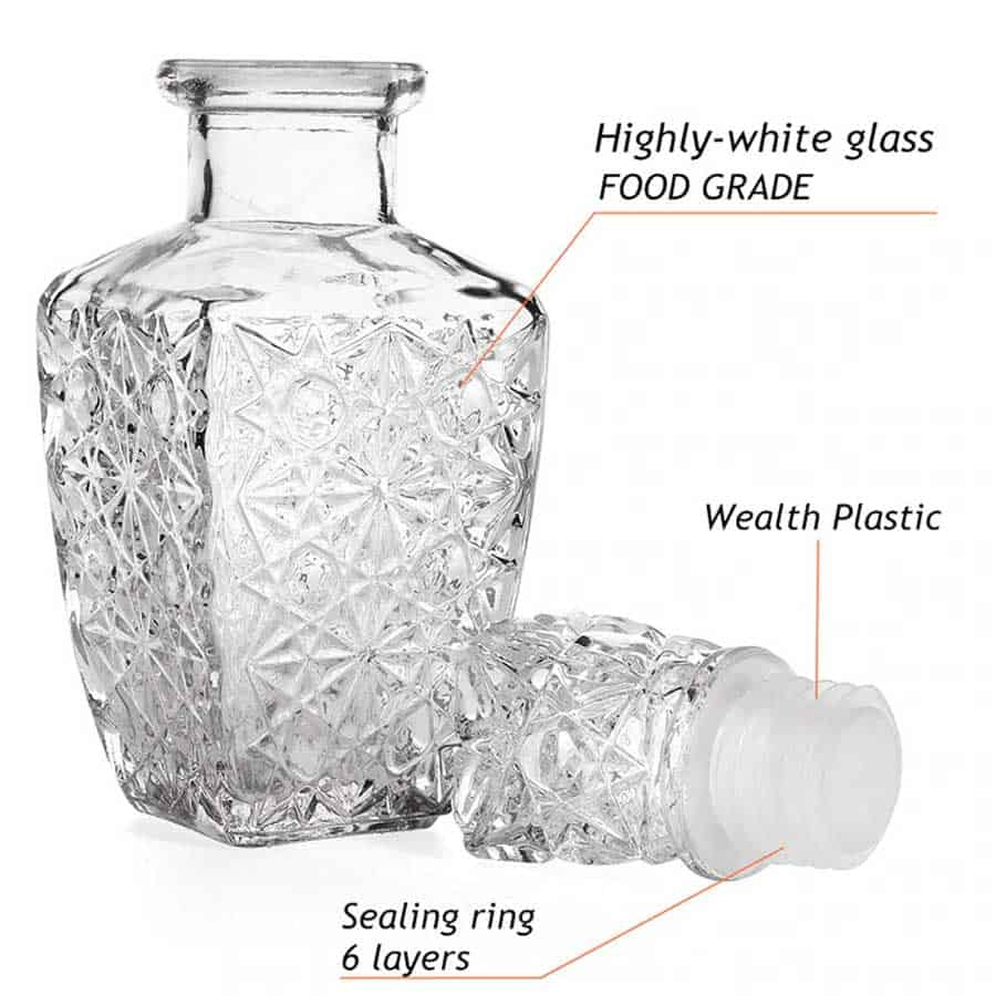 Crystal Wine Bottle Glass