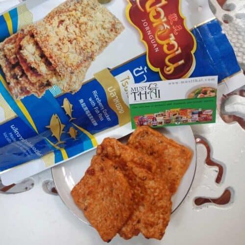 Jornguan Riceberry Cracker with Fish Floss