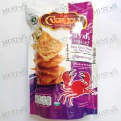 Little Farm Jornguan Jasmine Rice Cracker Sea Crab Flavor with Flossy Chicken 100g