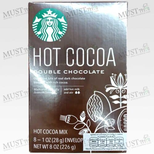 Starbucks Hot Cocoa Double Chocolate box of 8 sachets.