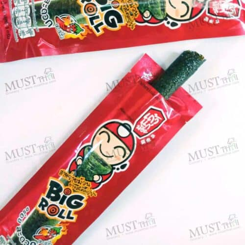Taokeanoi Big Roll Grilled Seaweed Japanese Style Spicy Flovour 3g pack of 12