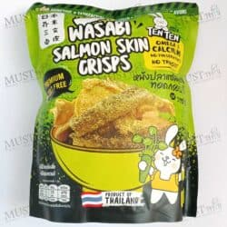 TENTEN Wasabi Flavored Salmon Skin Crisps 40g