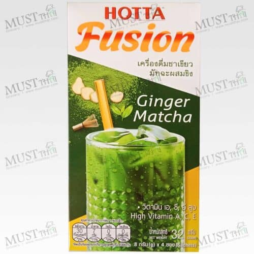 Hotta Fusion Instant Matcha Green Tea with Ginger Drink 4 Sachets