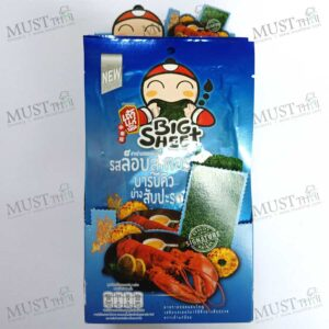 Taokaenoi Big Sheet BBQ Grilled Lobster with Pineapple Flavour Fried Seaweed 3.5g box of 12