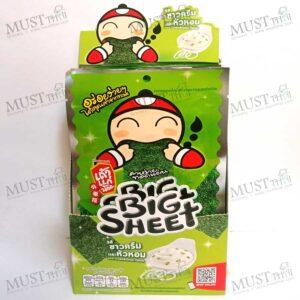 Taokaenoi Big Sheet Sour Cream & Onion Flavour Fried Seaweed 3.5g box of 12
