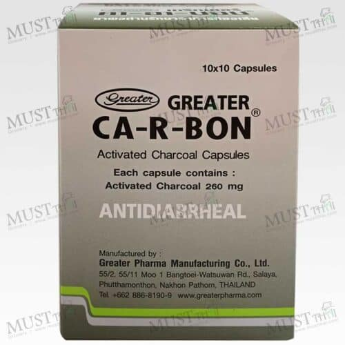 Activated Charcoal Capsules box of 10 pack