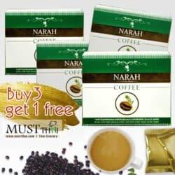 Narah best price Diabetic Herbal Coffee 3 in 1 Buy 3 get 1 free