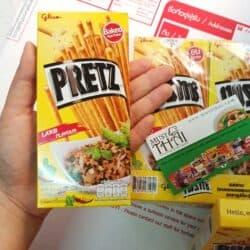 Pretz Bread Stick Larb Flavour pack of 10 box