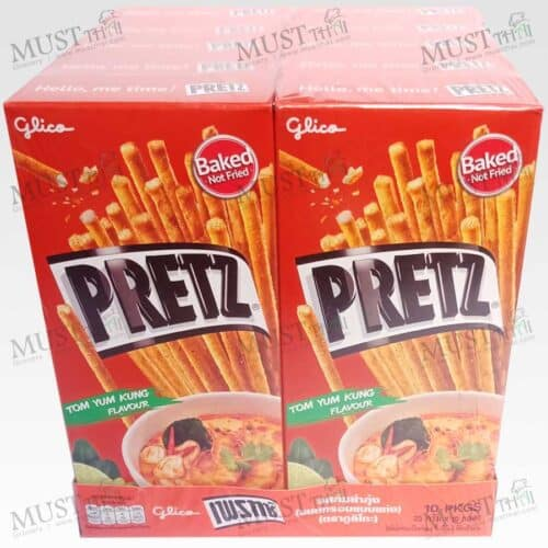 Pretz Bread Stick Tom Yam Kung Flavour pack of 10 box