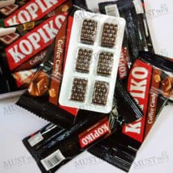 Kopiko Blister Pack Real Coffee Short Candy Classic Hard Candy Strong Sweet Blister Pack box of 12